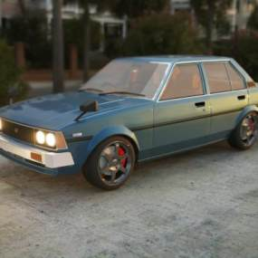 老式复古汽车3D模型【ID:447961735】