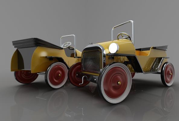 現代風格小汽車3D模型【ID:443415742】