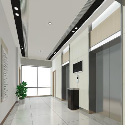 現代電梯廳3D模型【ID:942837579】