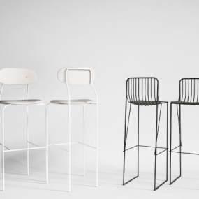 现代吧椅组合3D模型【ID:735811251】