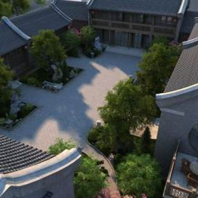 中式住宅3D模型【ID:231938186】