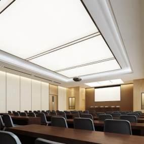 現代簡約風格會議室3D模型【ID:950113120】