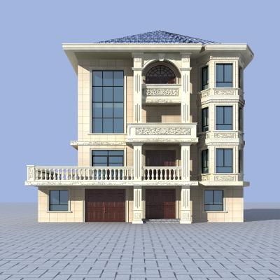 欧式别墅3D模型【ID:151376361】
