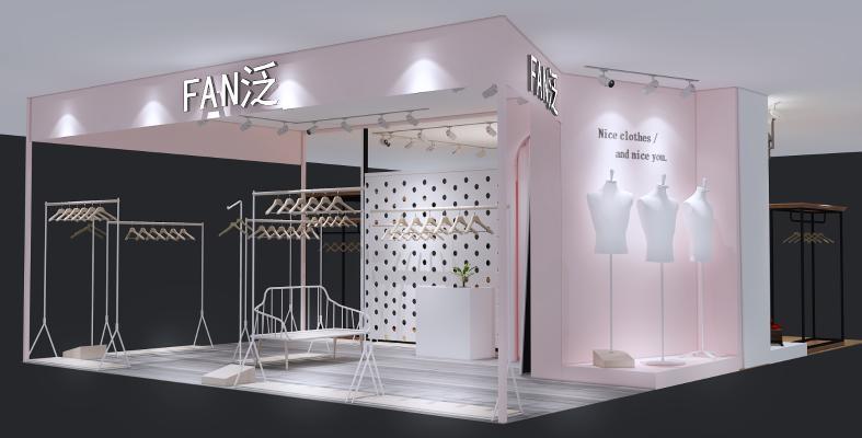 现代服装店3D模型【ID:147187051】