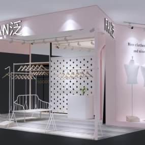 現代服裝店3D模型【ID:147187051】