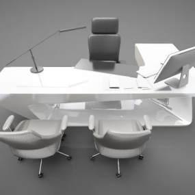 现代风格办公桌3D模型【ID:850603897】