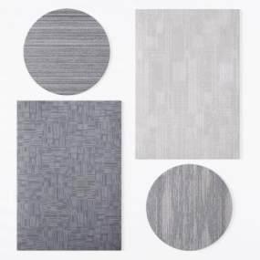 现代办公地毯酒店地毯工装地毯3D模型【ID:331192219】