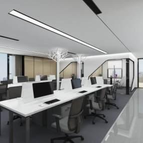 现代办公区3D模型【ID:941581025】