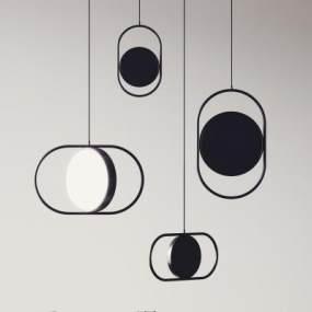 現代輕奢吊燈3D模型【ID:743656856】