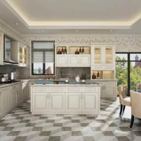 欧式厨房3D模型【ID:532466390】