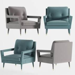 现代单人沙发椅3D模型【ID:753352026】