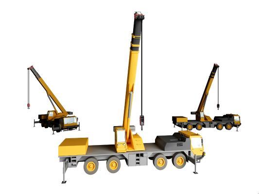 现代吊车3D模型【ID:441987758】