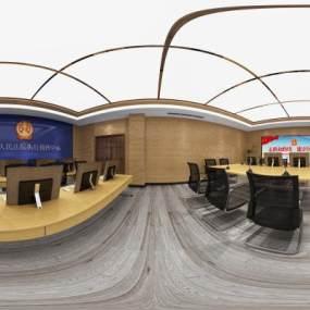 现代会议室3D模型【ID:947330141】