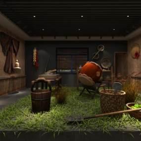 新中式农贸社区博物馆3D模型【ID:935420916】