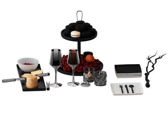 现代餐具3D模型【ID:242368856】