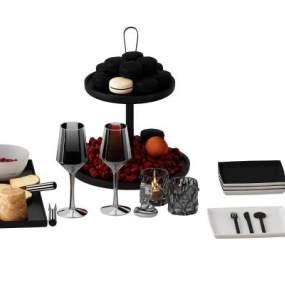 现代餐具 3D模型【ID:242368856】