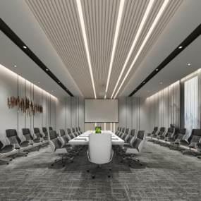 现代大会议室 3D模型【ID:936260157】