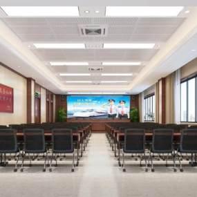 現代機關單位大會議室3D模型【ID:948908101】