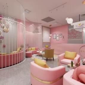現代甜品店3D模型【ID:634351496】