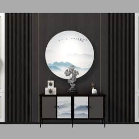 新中式边柜3D模型【ID:244088797】