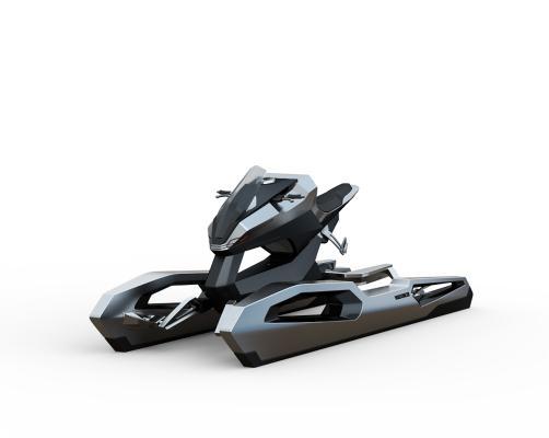工業風摩托艇3D模型【ID:436217872】
