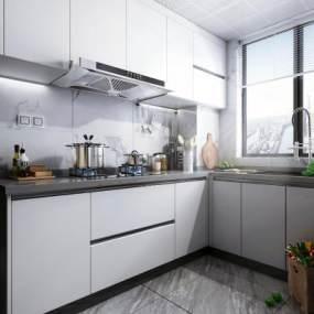 现代风格厨房3D模型【ID:549084344】