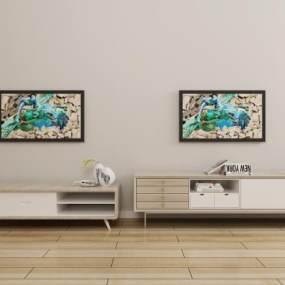 电视柜 3D模型【ID:941295944】