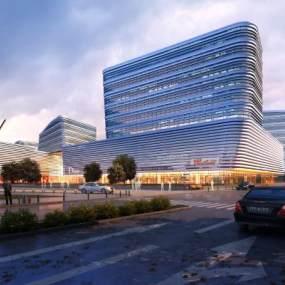 商业大楼外观 3D模型【ID:140935685】