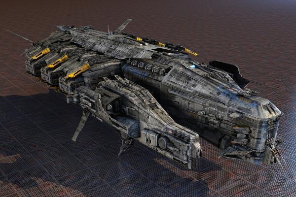 科幻宇宙战舰3D模型【ID:440629951】