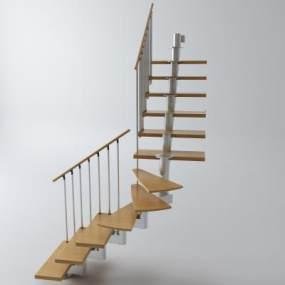 现代楼梯栏杆扶手3D模型【ID:335486591】