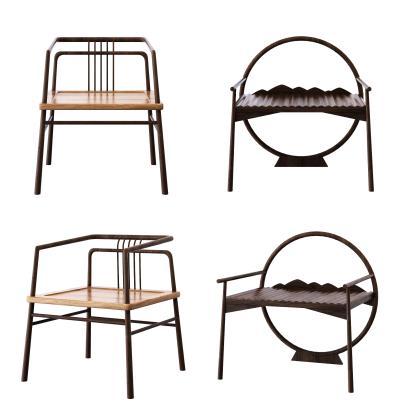 新中式禅意休闲椅3D模型【ID:745187032】