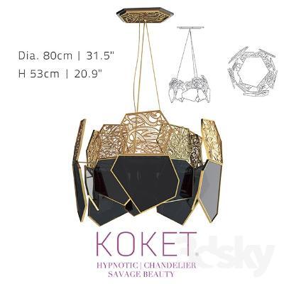 现代艺术吊灯国外3D模型【ID:730726891】