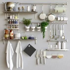 现代厨房用品3D模型【ID:234539831】