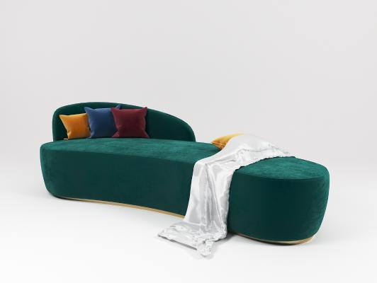 现代异形沙发3D模型【ID:642689919】
