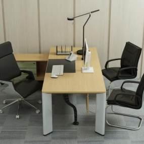 现代办公桌椅3D模型【ID:935513108】