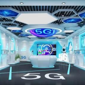 现代5G科技馆3D模型【ID:945674751】