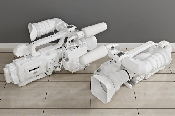 现代数码专业摄像机3D模型【ID:444101410】