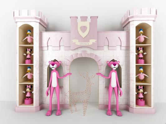 现代儿童卡通城堡3D模型【ID:842007762】