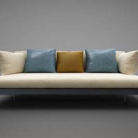 新中式风格沙发3D模型【ID:645853636】
