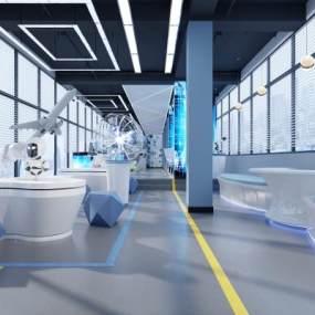 现代科技展厅科技室vr虚拟3D模型【ID:941364770】
