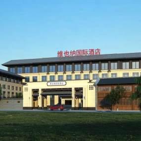 新中式酒店3D模型【ID:134528914】