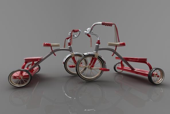 现代风格自行车3D模型【ID:443415658】