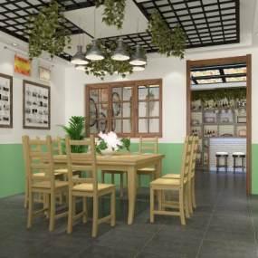 现代餐厅包厢3D模型【ID:645251888】