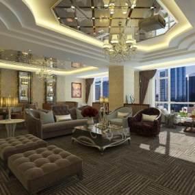 欧式酒店KTV包房3D模型【ID:633688586】