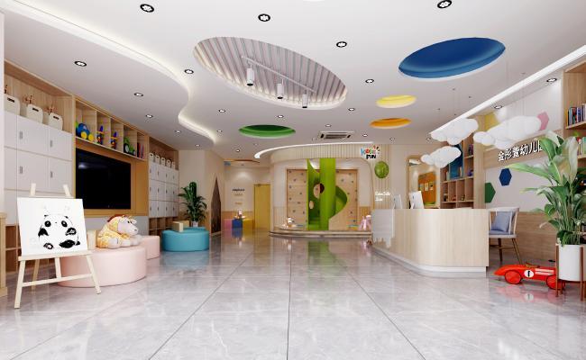 现代幼儿园大厅 走廊
