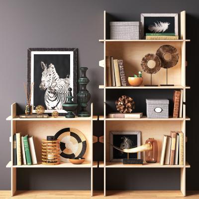 现代装饰柜 摆件组合