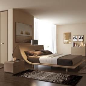 现代简约卧室3D模型【ID:847727707】