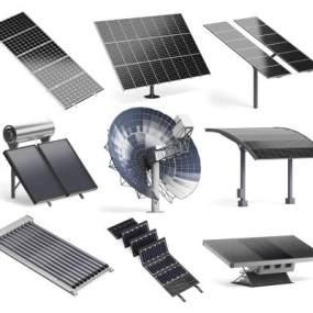 现代太阳能电池板3D模型【ID:449157357】