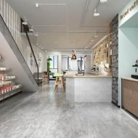 现代咖啡厅3D模型【ID:631290332】