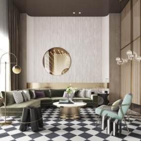新中式售楼处沙发茶几组合3D快三追号倍投计划表【ID:933738680】